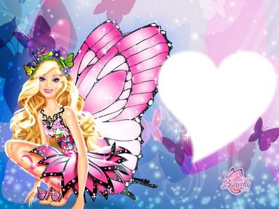 Montaje fotografico Barbie Mariposa - Pixiz