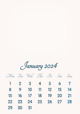 January 2024 // 2019 to 2046 // VIP Calendar // Basic Color // English