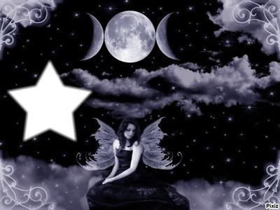 fée de la nuit et de la lune