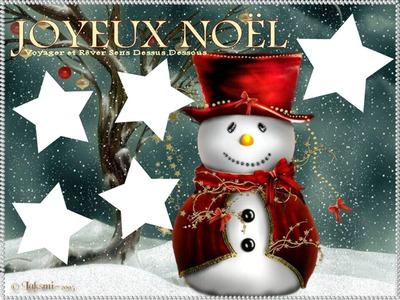 joyeux noel bonhomme de neige