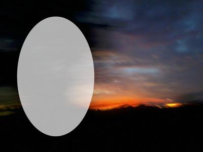 coucher de soleil à l'horizon