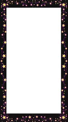 cadre avec étoiles 1 photo