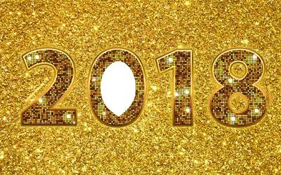 bonne année 2018 dorée