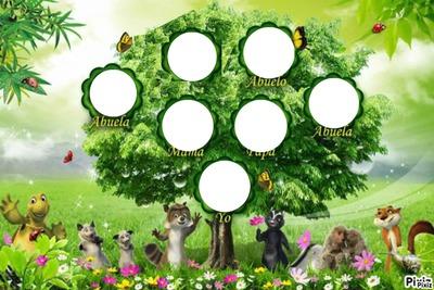 photo montage arbol genealogico pixiz