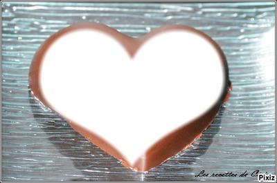 Un gâteau en forme de coeur