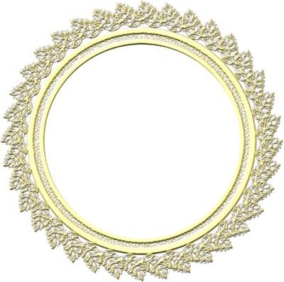 cadre rond jaune
