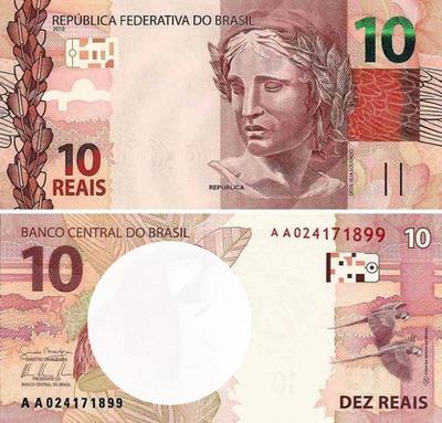 10 reais - dinheiro do Brasil