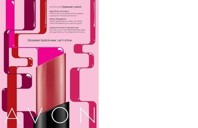 Avon Glazewear Lipstick Advertising