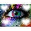 coeur et oeil au mille couleurs