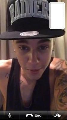 Face time Justin Bieber