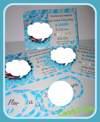 Photo Montage Invitaciones De Baby Shower Pixiz