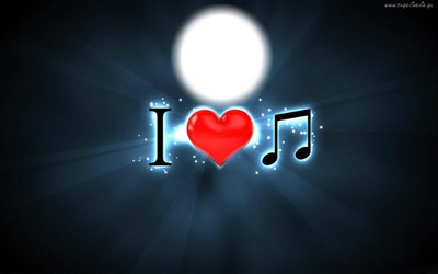 Photo montage I Love Music - Pixiz