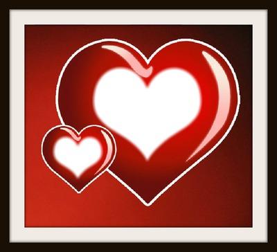 2 heart love frame