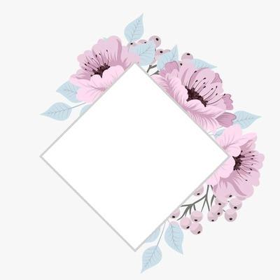 Losange florales