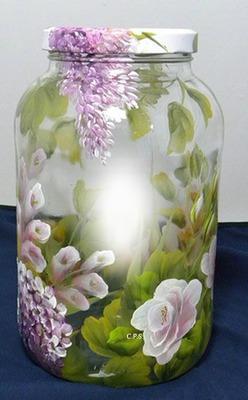 Cc frasco con flores