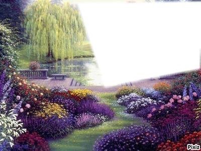 paysage fleurie