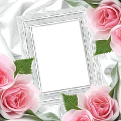 photo montage cadre roses pixiz. Black Bedroom Furniture Sets. Home Design Ideas