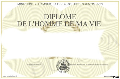 diplome d'amour