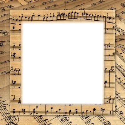 cadre photo notes de musique