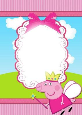 Montaje Fotografico Feliz Cumple Pepa Pig Pixiz