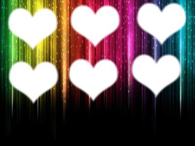 Opa vc pode colocar 6 fotos nesses coração boa sortte