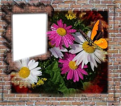 Virágos kreatív képkeretem. Andrea51