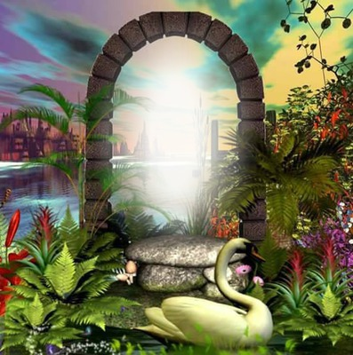 Cc arco de paisaje