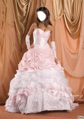robe blanche et rose