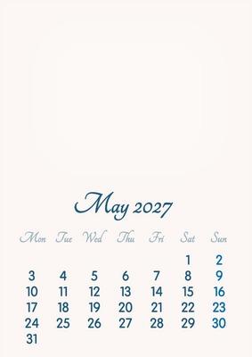 May 2027 // 2019 to 2046 // VIP Calendar // Basic Color // English
