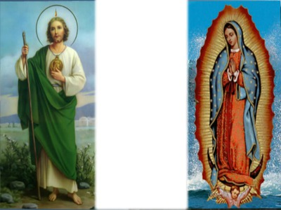 Montaje Fotografico San Judas Tadeo Y La Virgen De Guadalupe 1 Foto