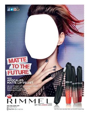 Rimmel Matte To The Future Lip Gloss Advertising