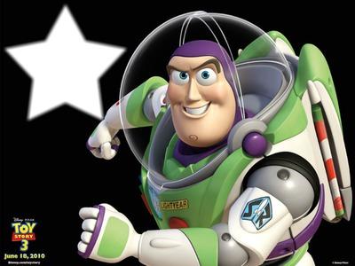 Fotomontagem Buzz Lightyear Toy Story Pixiz