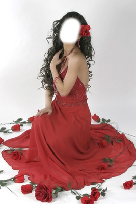jolie femme robe rouge espagnole