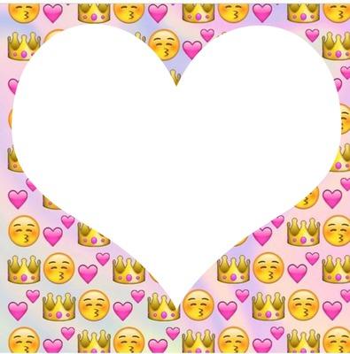 Fondo de emojis , foto de corazón
