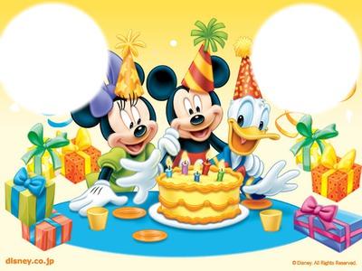 Carte Anniversaire Mickey.Photo Montage Anniversaire Mickey Pixiz