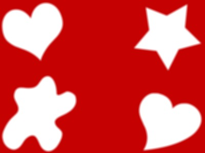 cadre rouge à formes