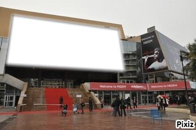 Affiche Palais des Festivals a Cannes