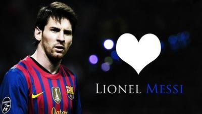 Montaje Lionel Messi - FC Barcelona