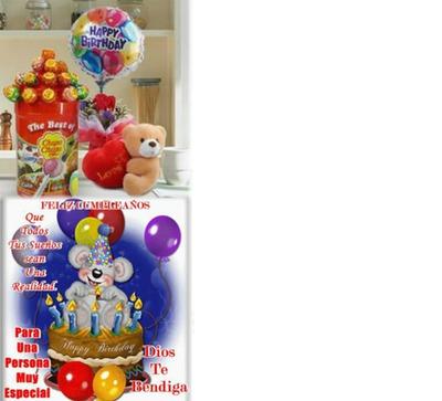 hermoso montaje de feliz cumpleaños