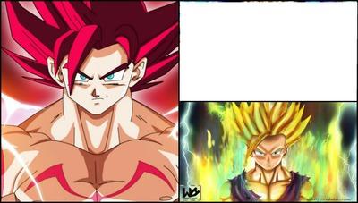 Montage Photo Goku Le Super Sayen Divin Pixiz