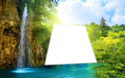 cascada naturaleza agua verde azul