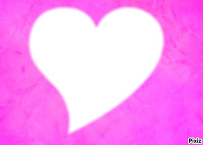 coeur sous fond rose