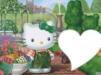 hello kitty jardinage