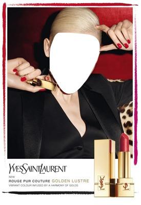 Yves Saint Laurent Lipstick Advertising