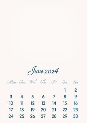 June 2024 // 2019 to 2046 // VIP Calendar // Basic Color // English
