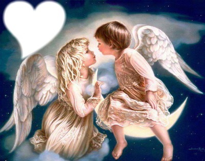 Fotomontage ange fille et garcon pixiz