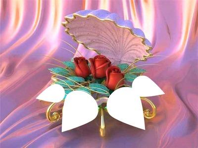 coquillage fleuri