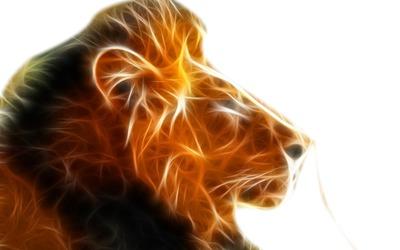 lion en 3D