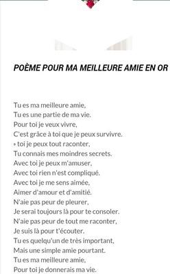 Poeme pour un amie