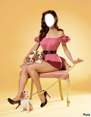 pin-up et chiots